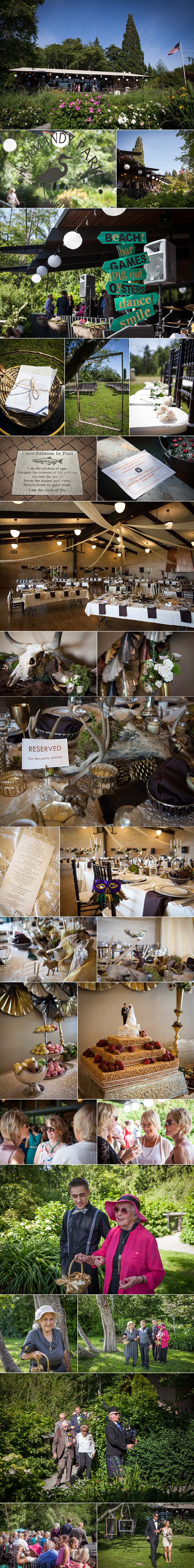nature themed wedding details